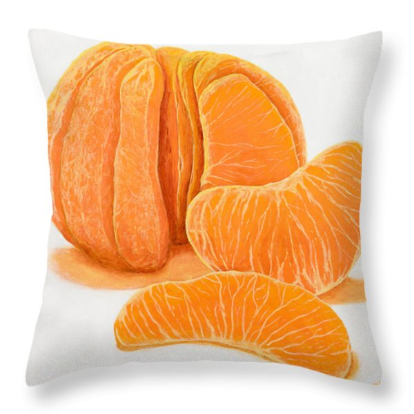 My Clementine Throw Pillow by Garry McMichael