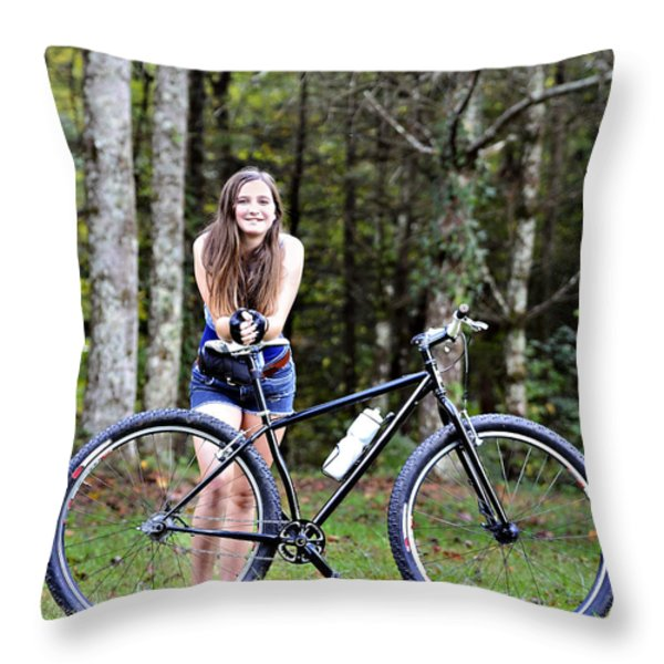 My Favorite Ride Throw Pillow by Susan Leggett