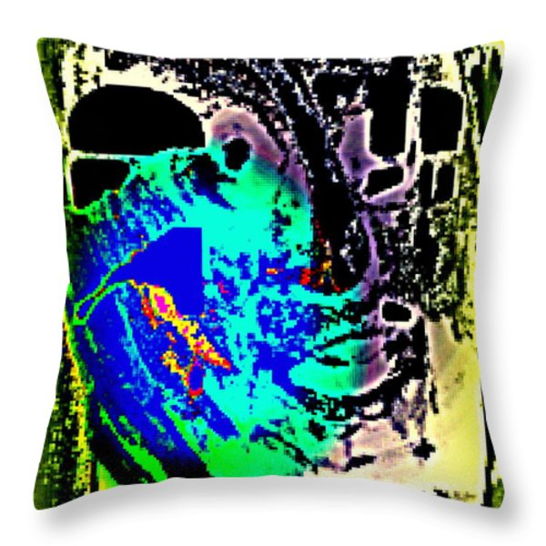 my ghost Throw Pillow by Hilde Widerberg