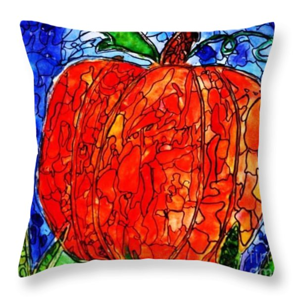 My Halloween Pumpkin Throw Pillow by JAGER  age 11