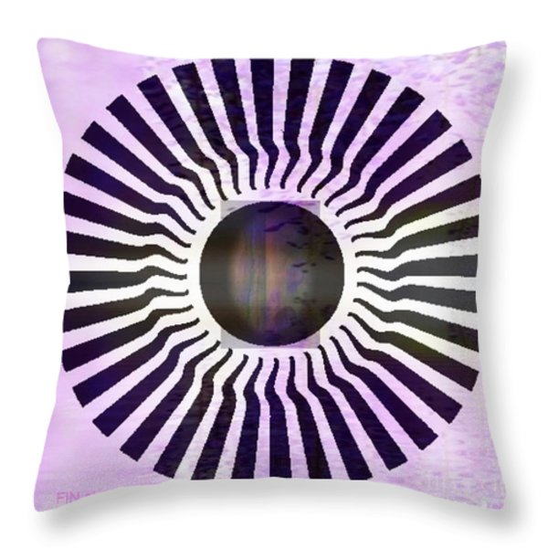 MY HEAD SPINS Throw Pillow by PainterArtist FIN
