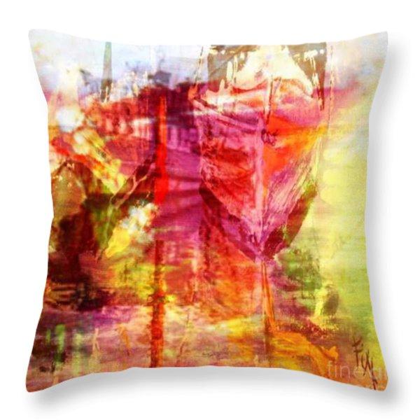 My Heart Belongs To You Ocean Throw Pillow by PainterArtist FIN