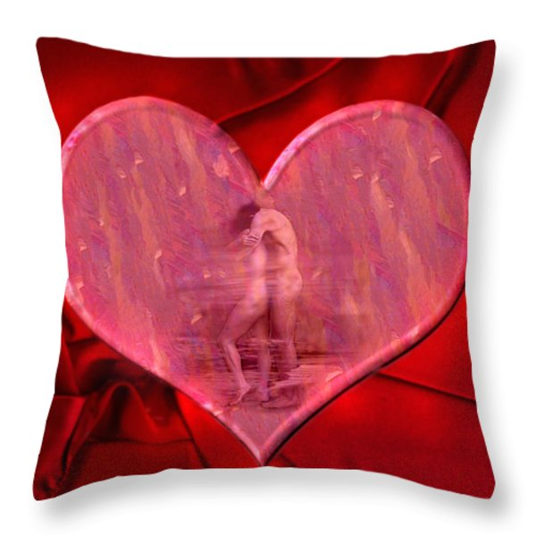 My Heart's Desire 2 Throw Pillow by Kurt Van Wagner