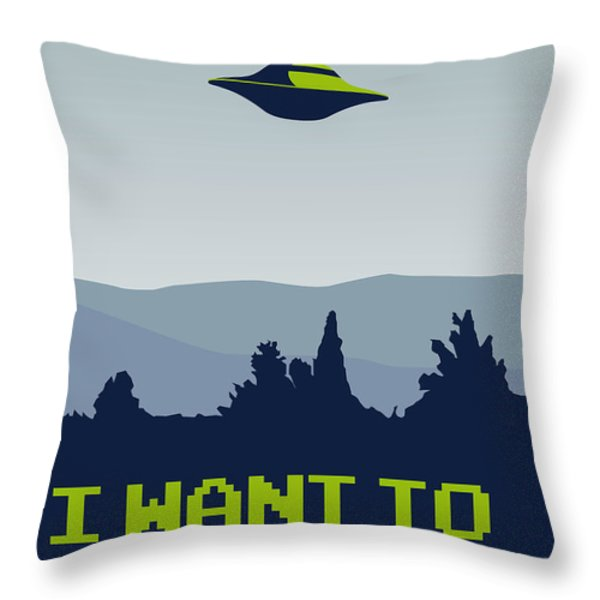 My I want to believe minimal poster Throw Pillow by Chungkong Art