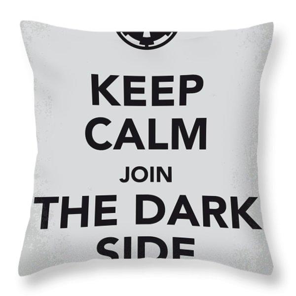 My Keep Calm Star Wars - Galactic Empire-poster Throw Pillow by Chungkong Art