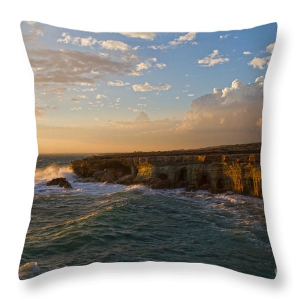 my land is the sea Throw Pillow by Stylianos Kleanthous