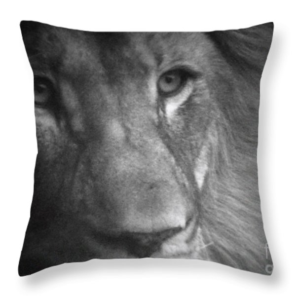 My Lion Eyes Throw Pillow by Thomas Woolworth