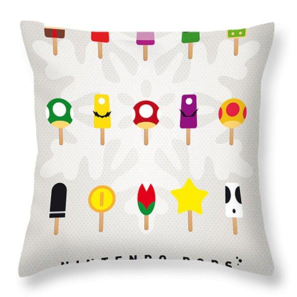 My MARIO ICE POP - UNIVERS Throw Pillow by Chungkong Art