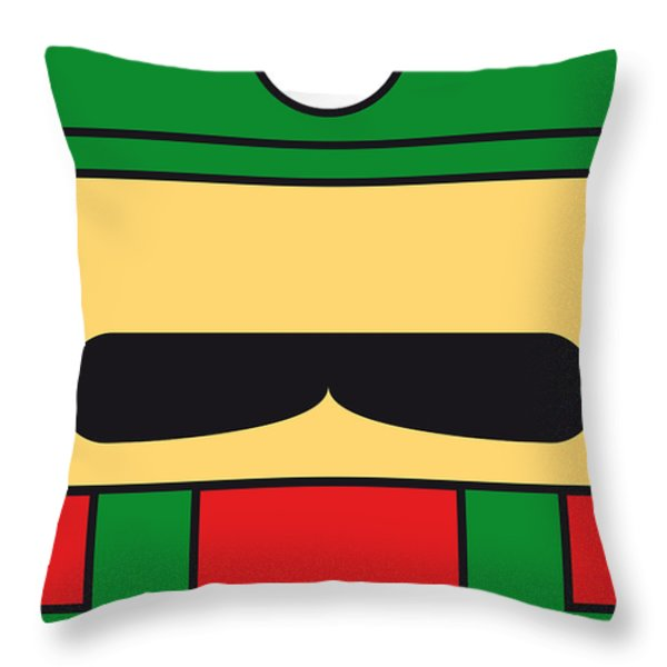 MY MARIOBROS FIG 02 MINIMAL POSTER Throw Pillow by Chungkong Art