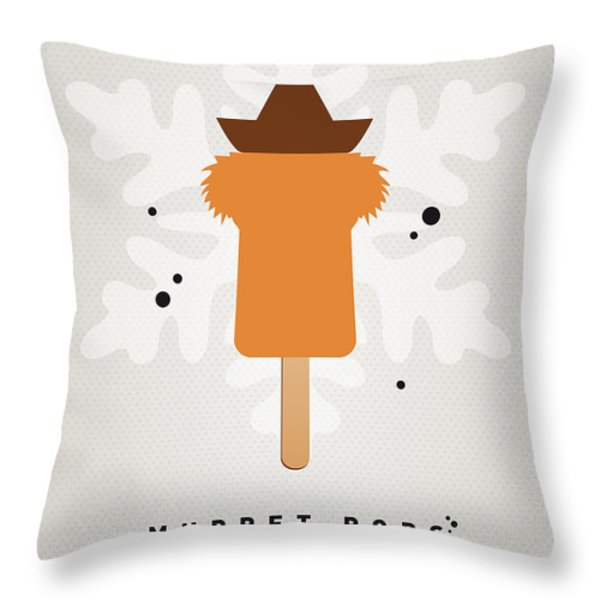 My Muppet Ice Pop - Fozzie Bear Throw Pillow by Chungkong Art