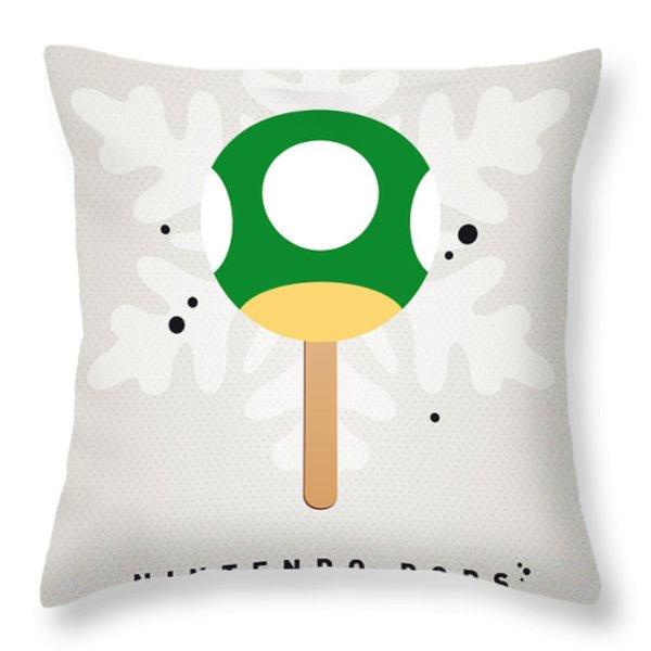 My NINTENDO ICE POP - 1 up Mushroom Throw Pillow by Chungkong Art