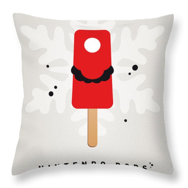 My Nintendo Ice Pop - Mario Throw Pillow by Chungkong Art