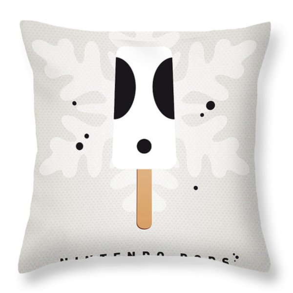 My Nintendo Ice Pop - Shy Guy Throw Pillow by Chungkong Art