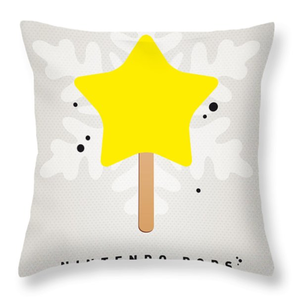 My Nintendo Ice Pop - Super Star Throw Pillow by Chungkong Art