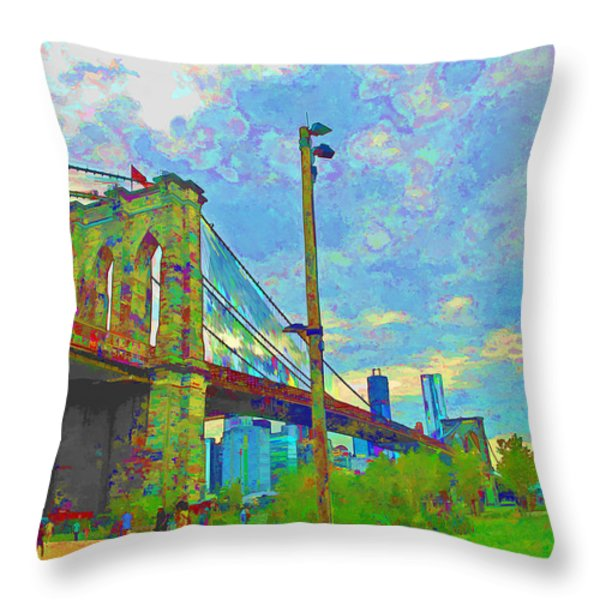 My Ny Minute Throw Pillow by Barbara McDevitt