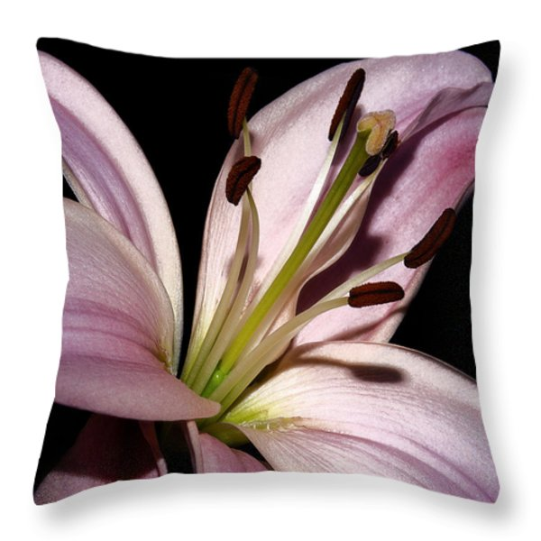 My Pink Acquisition Throw Pillow by Camille Lopez