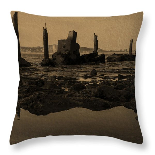 My Sea Of Ruins III Throw Pillow by Marco Oliveira