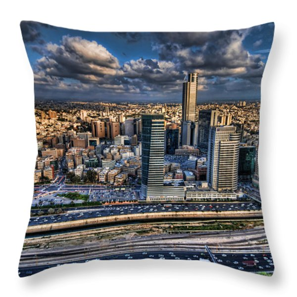 My Sim City Throw Pillow by Ron Shoshani