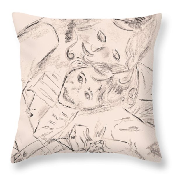 My Sister Throw Pillow by Elizabeth Briggs