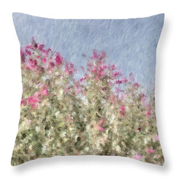 My Spring Garden - Impressionism Throw Pillow by Heidi Smith