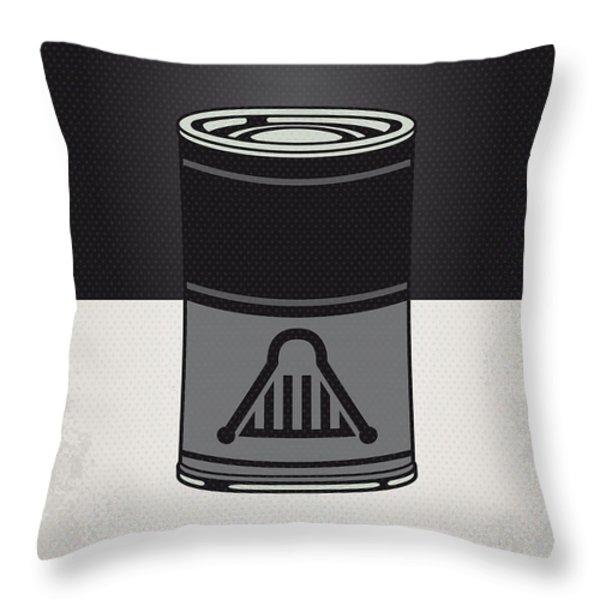 My Star Warhols Darth Vader Minimal Can Poster Throw Pillow by Chungkong Art
