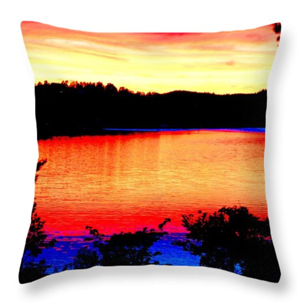my sunset Throw Pillow by Hilde Widerberg