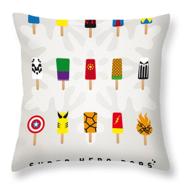 My SUPERHERO ICE POP UNIVERS Throw Pillow by Chungkong Art