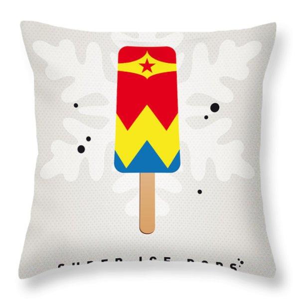 My Superhero Ice Pop - Wonder Woman Throw Pillow by Chungkong Art