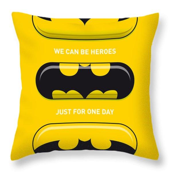 My Superhero Pills - Batman Throw Pillow by Chungkong Art