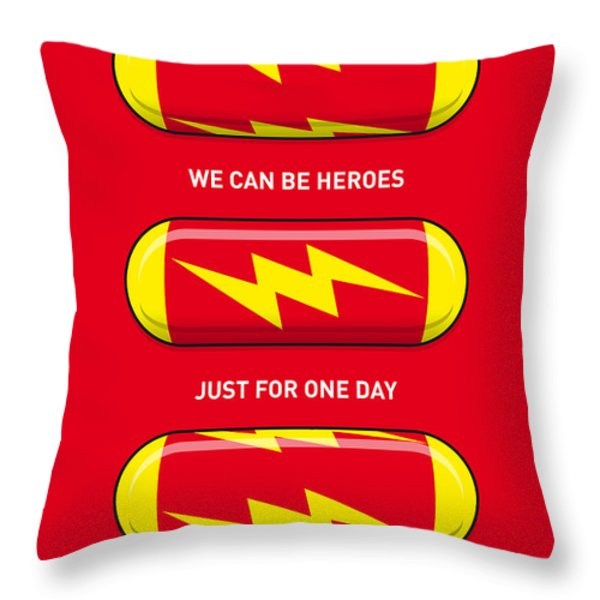 My Superhero Pills - The Flash Throw Pillow by Chungkong Art