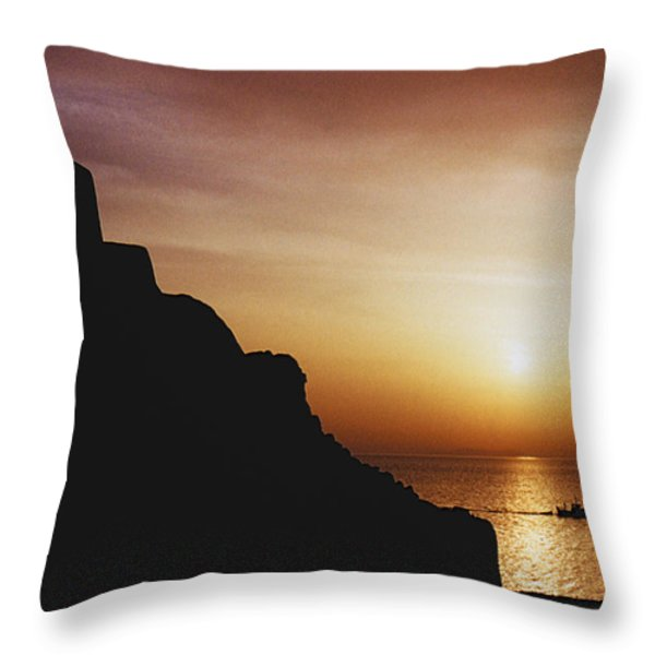 Mykonos Dreams Throw Pillow by Heiko Koehrer-Wagner