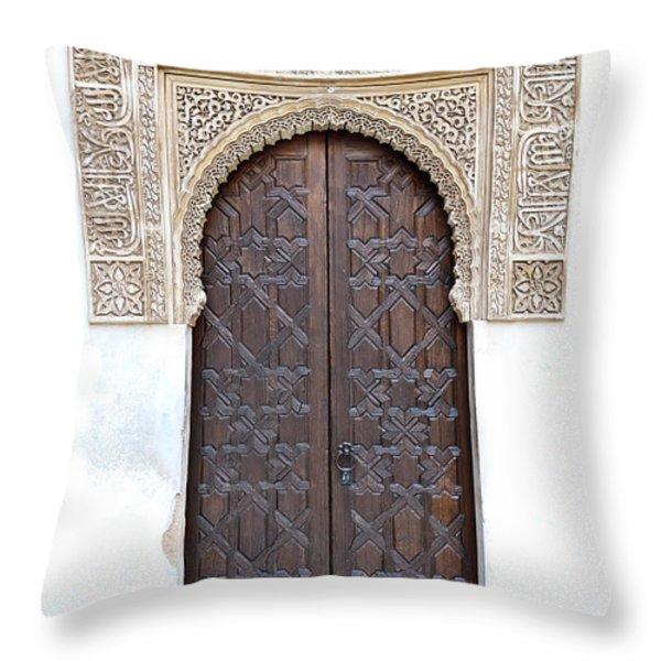 Myrtle Doorway Throw Pillow by Marion Galt