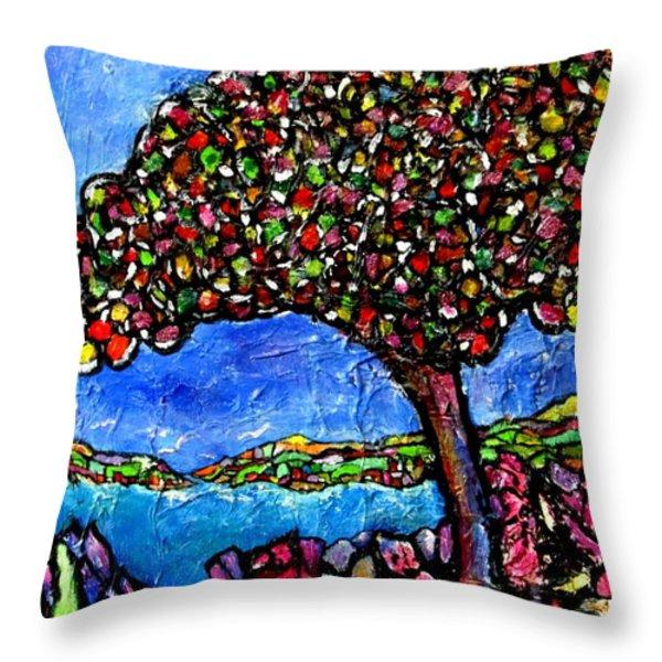 Myrtle Edwards Park Throw Pillow by Chaline Ouellet