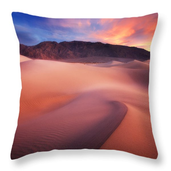 Mysterious Mesquite Throw Pillow by Darren  White