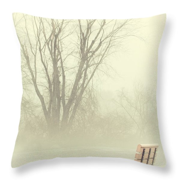 Mysterious Peace Throw Pillow by Karol Livote