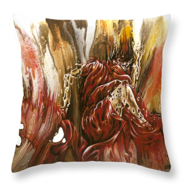 Mystery Throw Pillow by Karina Llergo Salto