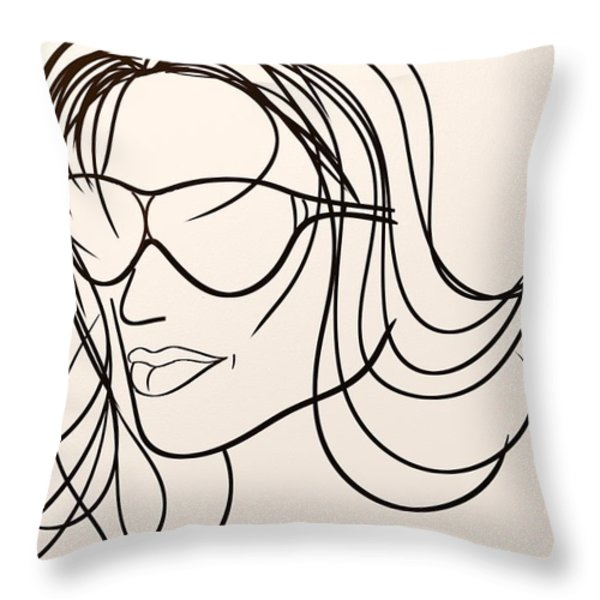 Mystery Woman Throw Pillow by Sotiris Filippou
