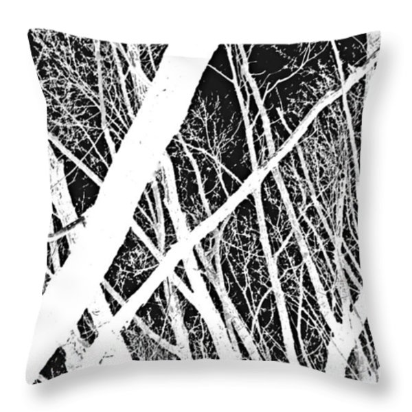 Mystic Forest Throw Pillow by Steven Milner
