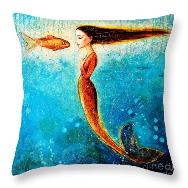 Mystic Mermaid II Throw Pillow by Shijun Munns