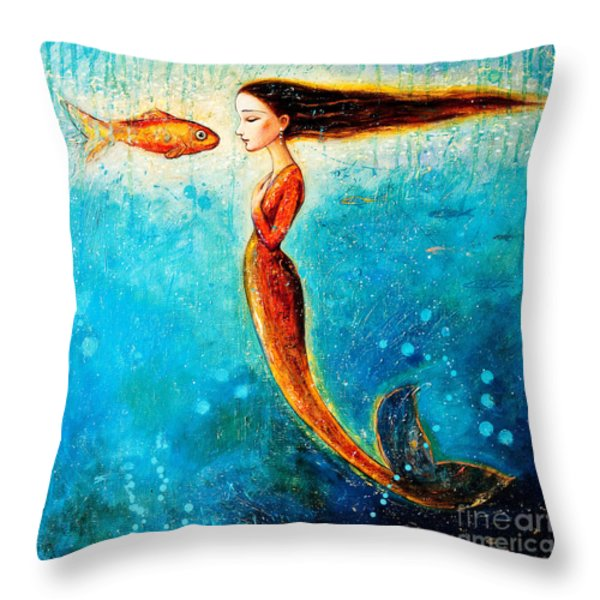 Mystic Mermaid II Throw Pillow by Shijun Munns