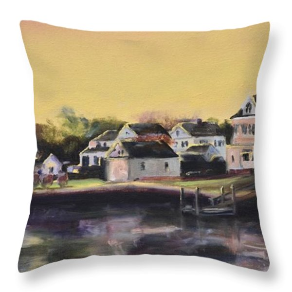 Mystic Morning Throw Pillow by Donna Tuten