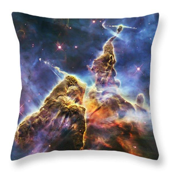 Mystic Mountain Throw Pillow by Adam Romanowicz