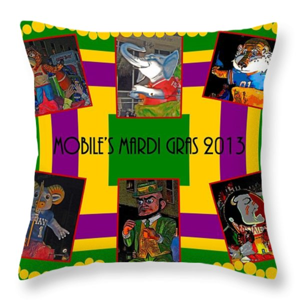 Mystic Stripers Parade Images 2013  Throw Pillow by Marian Bell
