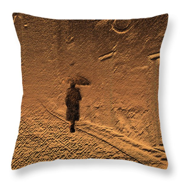 Mystical Journey of the Shadow of Your Soul in Extraneous World Throw Pillow by Jenny Rainbow
