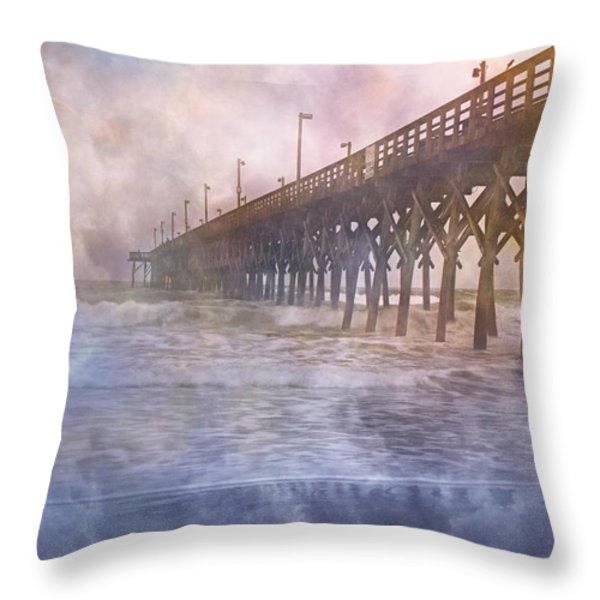 Mystical Morning Throw Pillow by Betsy A  Cutler