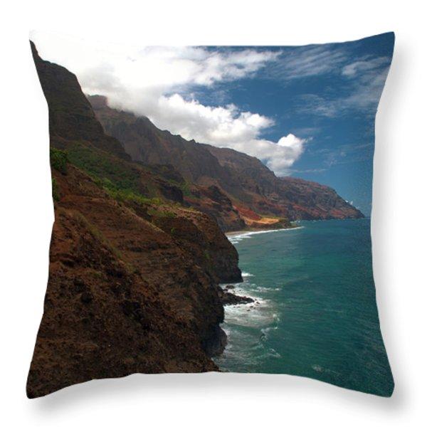 Na Pali Coast 5 Throw Pillow by Brian Harig