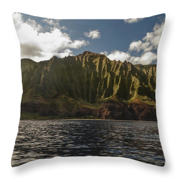 Na Pali Coast Kauai Hawaii Throw Pillow by Brian Harig