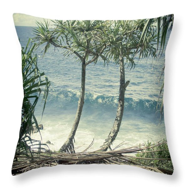 Nahiku - Oli Lei Throw Pillow by Sharon Mau