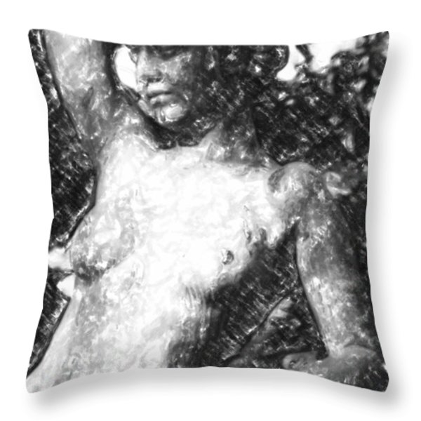Naked Woman Throw Pillow by Toppart Sweden