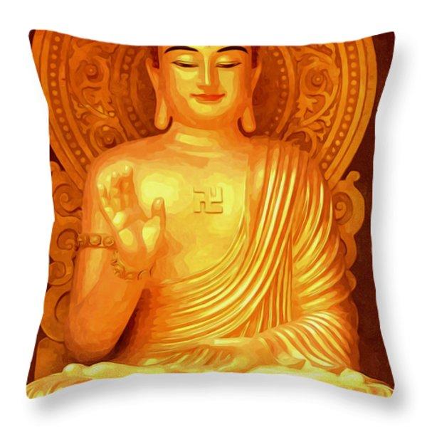 Namo Amitabha Buddha 36 Throw Pillow by Lanjee Chee